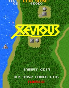 ゼビウスのデモ画面