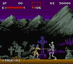 AC版-悪魔城ドラキュラ-ゲーム画面