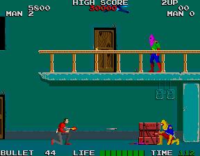 ローリングサンダー-ゲーム画面