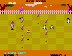 ホッピングマッピー-ゲーム画面