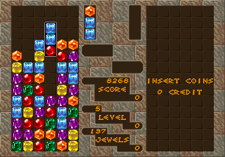 コラムス-ゲーム画面