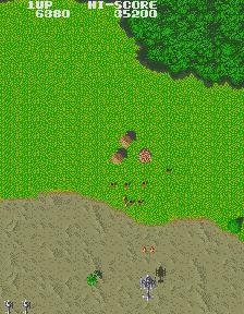 ジャイロダイン-丸型の小屋を撃つ