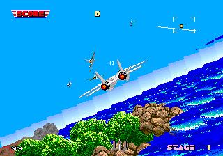 アフターバーナー-ゲーム画面