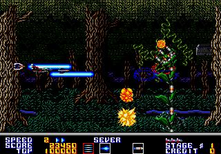 サンダーフォースAC-ゲーム画面