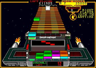 クラックス-ゲーム画面