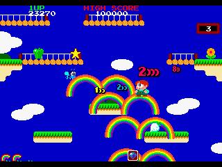 レインボーアイランド-ゲーム画面