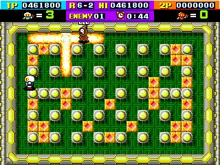 ボンバーマン(AC)-ゲーム画面
