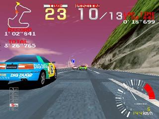 リッジレーサー-ゲーム画面