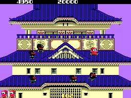 忍者くん-ゲーム画面