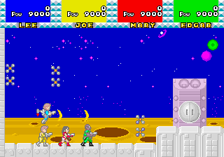 カルテット-ゲーム画面