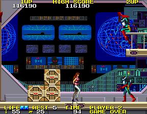 ローリングサンダー2-ゲーム画面
