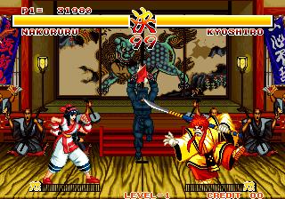 サムライスピリッツ-ゲーム画面