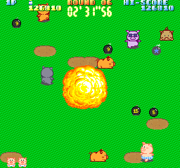 ぶたさん-ゲーム画面