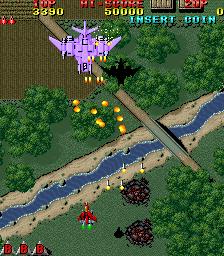 雷電-ゲーム画面