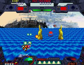 バーニングフォース-ゲーム画面