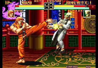 龍虎の拳-ゲーム画面