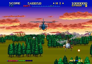 サンダーブレード-ゲーム画面
