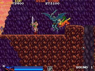 ラスタンサーガ-ゲーム画面