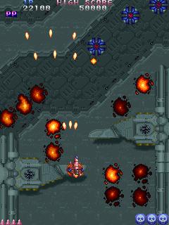 TATSUJIN-武器-ゲーム画面