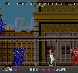 ドラゴンニンジャ-ゲーム画面