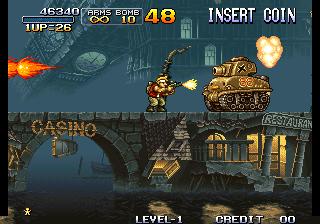 メタルスラッグ-ゲーム画面
