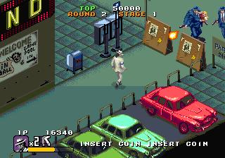 ムーンウォーカー(AC)-ゲーム画面
