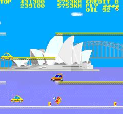 シティコネクション-ゲーム画面