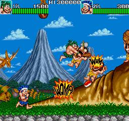 戦え原始人-ゲーム画面