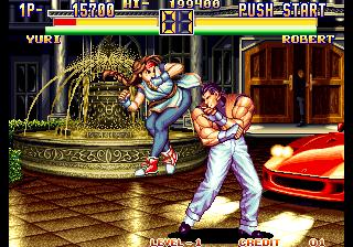 龍虎の拳2-ゲーム画面