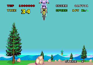 エンデューロレーサー-ゲーム画面