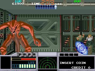 スペースガン-ゲーム画面