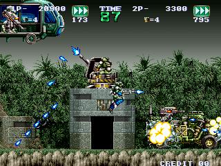 ガンフォース-ゲーム画面