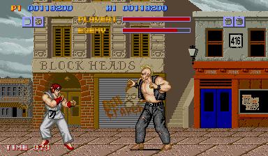 ストリートファイター-ゲーム画面