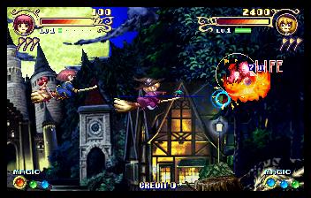 コットン2-ゲーム画面