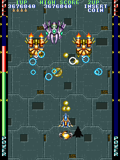 サンダーブラスター-ゲーム画面