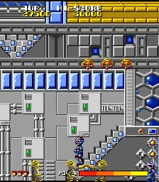コスモポリスギャリバン-ゲーム画面