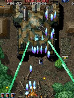 ライデンファイターズ-ゲーム画面