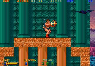 ラスタンサーガII-ゲーム画面