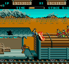 大列車強盗-ゲーム画面