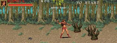 ウォリアーブレード-プレイヤーゲーム画面