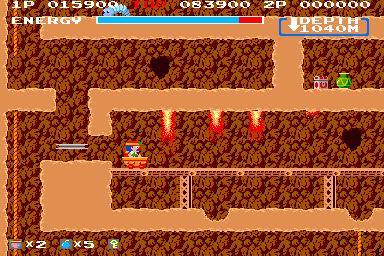 スペランカー(AC)-ゲーム画面