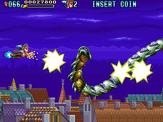 魔法警備隊ガンホーキ-ゲーム画面